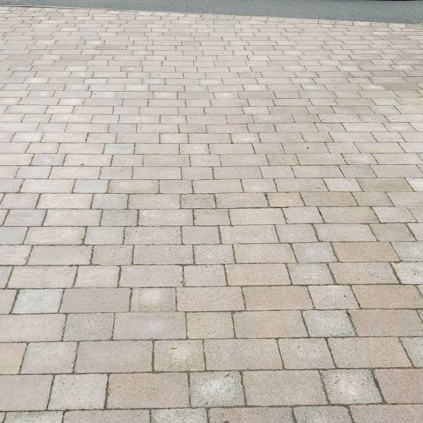 Block Paving Before