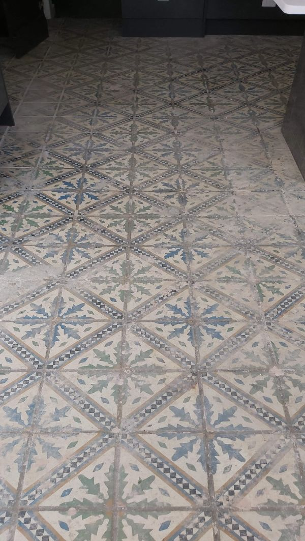 Victorian Tile Before