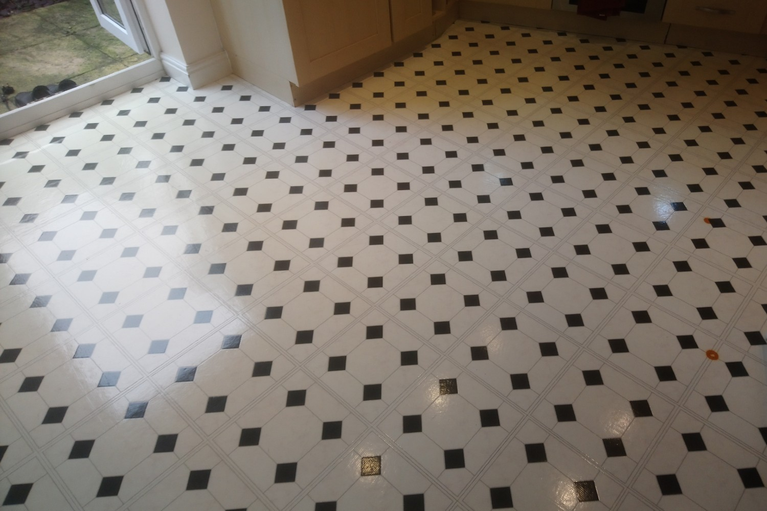 Kitchen Floor Cleaning Example